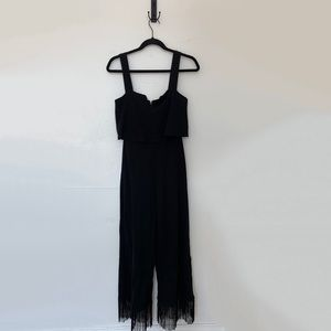 Rolla Coster Fringe Wide Leg Jumpsuit Size Small